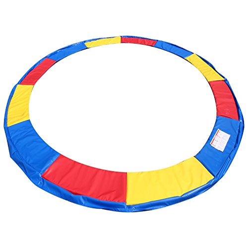 Pad Round Skirt - 15 14 12 10 Ft Replacement Trampoline Surround PVC Pad Foam Safety Spring Cover Padding Pads (Rainbow, 15 Ft)