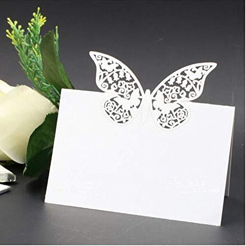 Musuntas 50 pièces motif papillons/coupe laser namenskärtchen platzkarte/durable sitzkarte/papillons/cSC forme de solides pour un mariage ou une fête