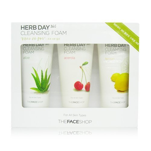 The Face Shop Herb Day 365 Cleansing Foam Special Set