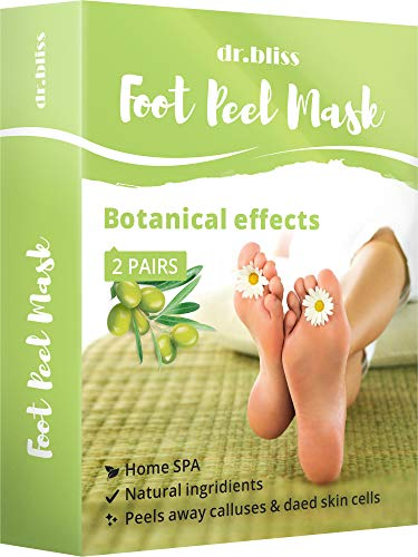 Exfoliating Foot Peel Mask - Exfoliating Sock Foot Mask - Peel Cuticle Remover - Foot Mask for Peeling Away Calluses and Dead Skin Cells - Get Silky Soft Feet Pedicure Kit