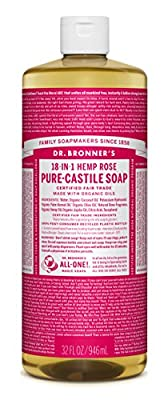 Dr. Bronner's Pure-Castile Liquid Soap - Rose 32oz.
