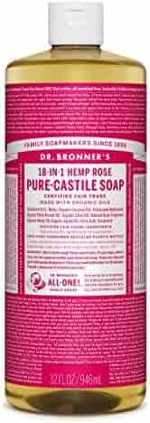 Dr. Bronner's Pure-Castile Liquid Soap – Rose, 32 oz.