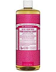 Dr. Bronner's Pure-Castile Liquid Soap – Rose, 32 oz