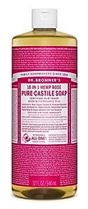 Dr. Bronner's Pure-Castile Liquid Soap - Rose 32 oz