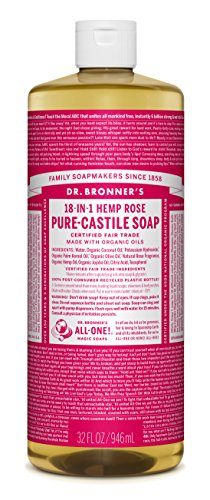 - Dr. Bronner's Pure-Castile Liquid Soap - Rose 32 oz