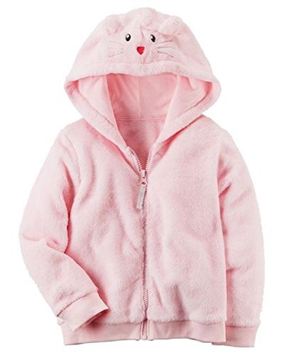 Sherpa Ribbed Sweatshirt (Carters Baby Girls Fuzzy Mouse Hoodie 12 Months)