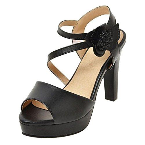 Toe Black Peep Alto RAZAMAZA Sandali Tacco Donna XTWqnX4wpS