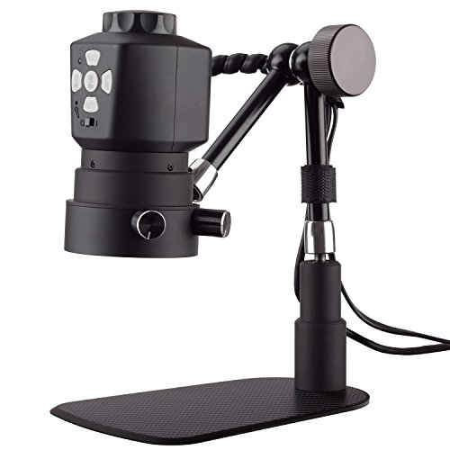 AmScope Tabletop Digital Microscope with Variable Working-distance and 11in Articulating Arm - Articulating Mechanism