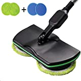 wireless electric rotary mop cleaning handheld spinning rechargeable powered floor cleaner scrubber sweeper