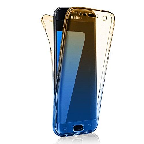 Funda Samsung Galaxy S8 Plus , Sunroyal Carcasa Protectora 360 Grados Full Body | TPU en Transparente | Protección Completa Doble Case Cover Smartphone Móvil Accesorio [Resistente a los Arañazos] Cobe B-04