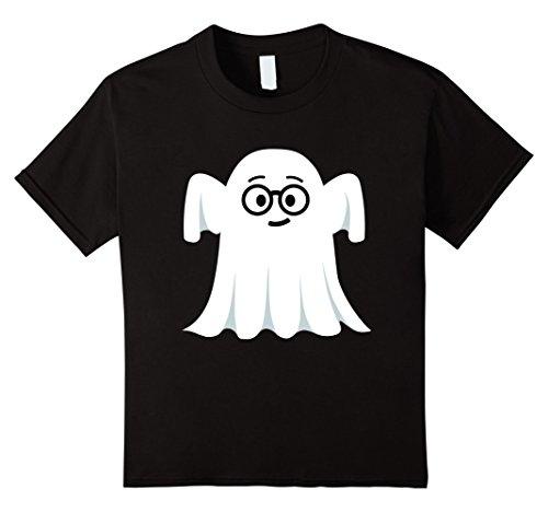 Nerdy Girl Outfits (Kids Ghost Emoji T-Shirt Nerdy Geek Halloween Costume Gift 10 Black)