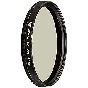 AmazonBasics Circular Polarizer Lens - 62 mm