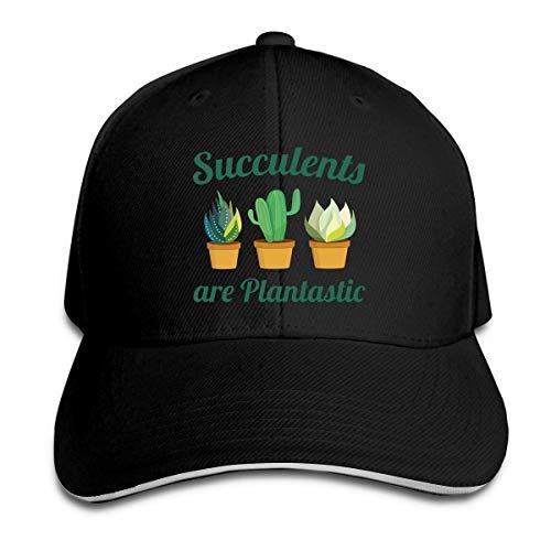 81881c4a4 Succulents are Plantastic Cap Unisex Low Profile Cotton Hat Baseball Caps  Navy,Black,One Size
