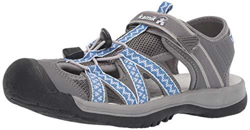 Kamik Women's ISLANDER2 Sport Sandal, Grey, 8 M US
