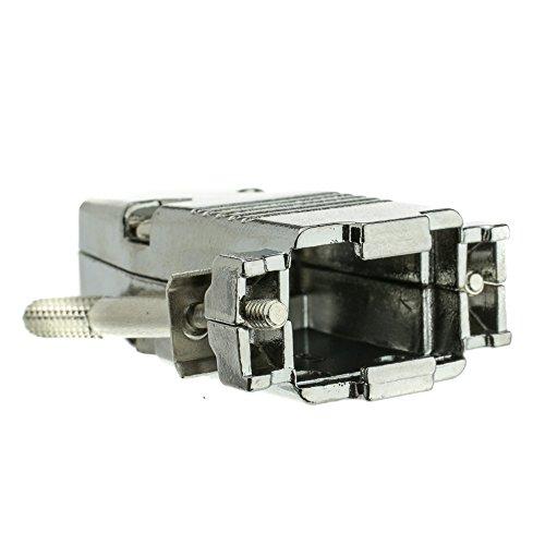 CableWholesale DB9 / HD15 (Serial/VGA) Metal Hood with Thumb Screws