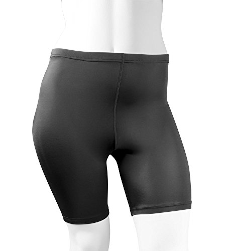 Plus Women's Spandex Exercise Compression Workout Shorts Black 4XL