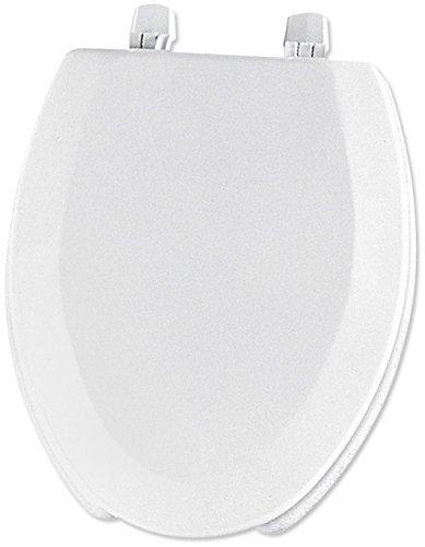 Strange Mayfair 1440Ec 000 Open Front Molded Wood Toilet Seat Elongated White Machost Co Dining Chair Design Ideas Machostcouk