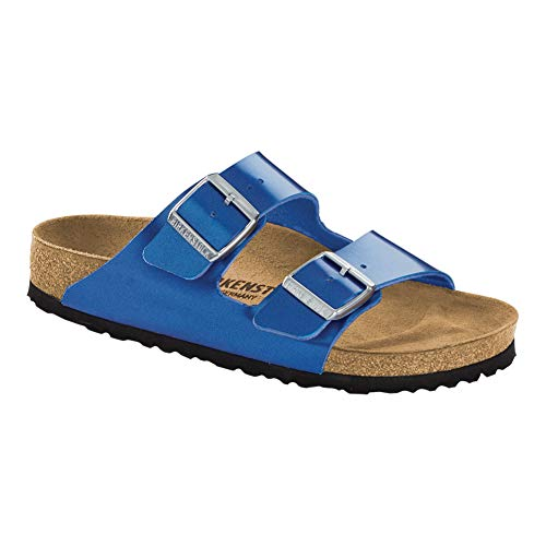 Birkenstock Women's Arizona Sandal Electric Ocean Birko-Flor Size 41 N EU
