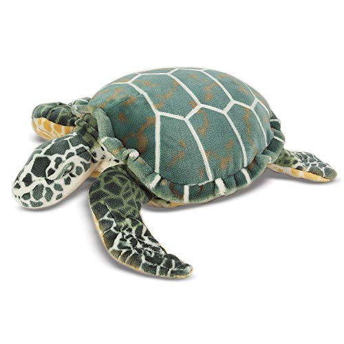 Melissa & Doug Sea Turtle Giant Stuffed Animal (24″ H × 22″ W × 7.9″ L, Great Gift for Girls and Boys - Best for 3, 4, 5 Year Olds and Up)