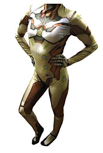 Overwatch Genji Cosplay Costume | Genji Suit | Genji Undersuit | Genji Costume (Extra Large, White)