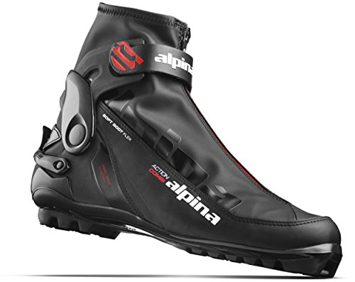 Alpina Sports A Combi Cross Country Skate Classic Cross Country Ski Boots, Euro 46, Black/Red