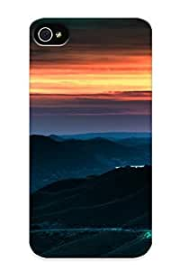 322beec1241 Faddish Sunset Mountains Landscapes Nature California Roads Napa Valley Case Cover For Iphone 4/4s With Design For Christmas Day's Gift
