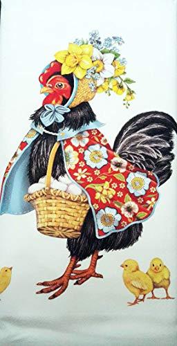 Mary Lake Thompson Fancy Easter French Hen 100% Cotton Flour Sack Dish Tea Towel 30