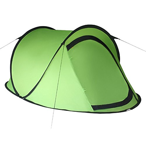 Pop-Up Zelt Wurfzelt JUMP für 2 Personen für Camping, Festival und mehr von BB Sport Wassersäule 3000, Farbe:grün