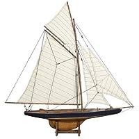 Modelos auténticos America's Cup Columbia 1901 Yate, pequeño
