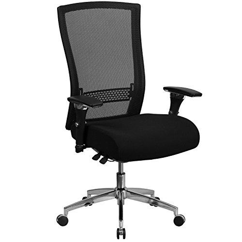 HERCULES Series 24/7 Multi-Shift, 300 lb. Capacity High Back Black Mesh Multi-Functional Executive Swivel Chair with Seat Slider Back Multi Shift Chair