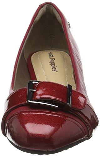 Dark Ellinor Women's Puppies Red Shoes Wedge Admire Leather Red Hush p10UqE