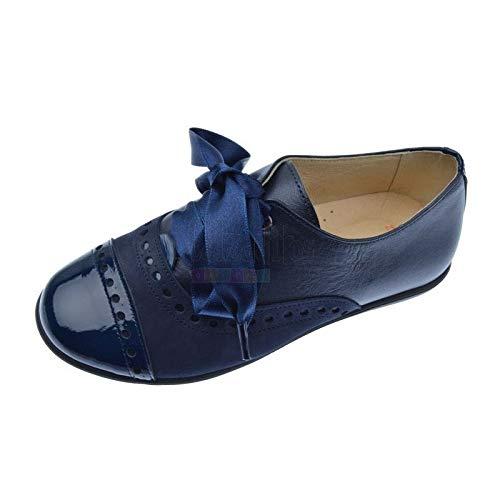 a6a5bb9c54 Andanines Zapatos Blucher para niña o Mujer de piel nacarada
