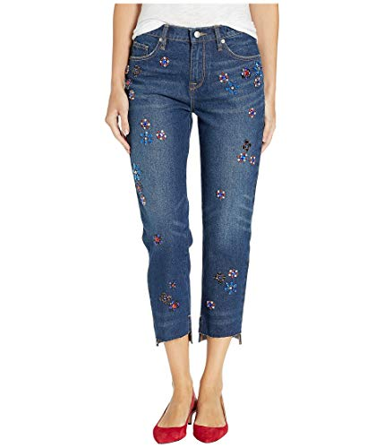 Hayworth Accent - Juicy Couture Women's Floral Embellished Boyfriend Jeans Hayworth Wash 30 25