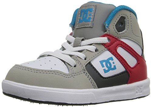 DC unisex-child Pure Elastic, Grey/Red/White, 5 M US Toddler