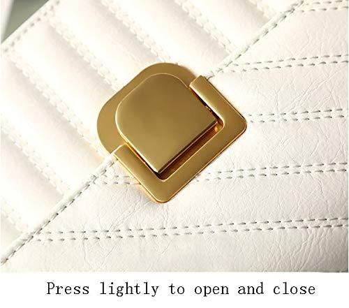 Dam supermjuk Nappa läder axelväska/retro handväska axelväska mode handväska messengerväska (bugogne) 20 cm x 15 cm x 7 cm/vit