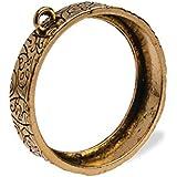 10pcs 30mm round Pressed flower frame pendant,open back bezel pendant,bezels for resin,pressed flower jewelry,Antique Gold
