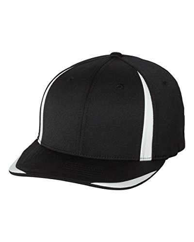 Flexfit Cool & Dry Double Twill Cap. 6599 - Black / White - L/XL
