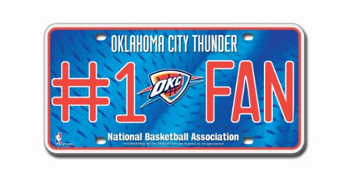 NBA Oklahoma City Thunder #1 Fan Metal Auto - Outlet Oklahoma Malls City