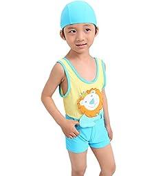 HOEREV Toddler Boys\' Swimsuit, lion, One-Piece Swimwear