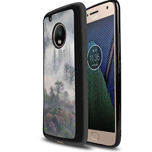 Mist Mountain Forest Soft TPU Case Fit for Motorola Moto G5 5in ()