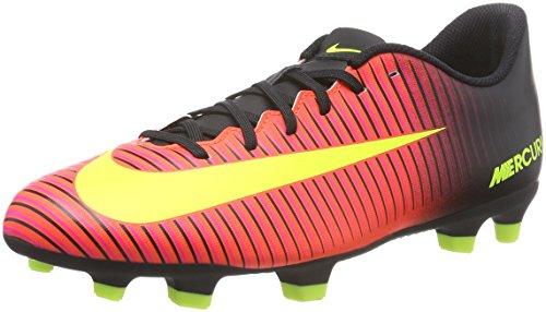 NIKE Mercurial Vortex III FG Mens Football Boots 831969 Soccer Cleats (US 11, Total Crimson Volt Black - F50 Messi Cleats