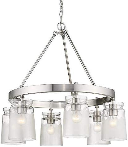 Golden Lighting 1405-6 PW-Cag Travers Chandelier