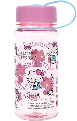 Hello Kitty BPA Free Tritan Water Bottle w/Removable Inner Adapter Heat/Cold Resistant Plastic
