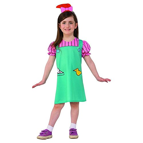 Onceuponasale Rugrats Lil DeVille Costume 3T-4T Toddler Girl's Halloween Dress up Play Cute]()