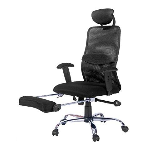 Merax Ergonomic Series Lunch Break Office Reclining Mesh Chair (Black)