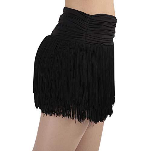 Femme de Cha Shorts Franges Jupe Effet Salsa Cha pour Costume Doubles RUIBUY avec classique Paso Noir Doble Zumba trmousser Rumba avec Excellent Latine Cha fqEIadxR