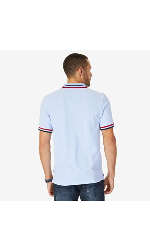 2a4c404bf73be Nautica Men s Short Sleeve Performance Pique Polo with Tipping at Amazon  Men s Clothing store