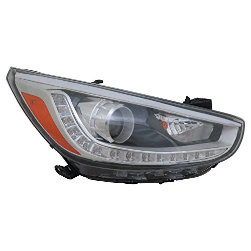 (TYC 20-9683-00-1 Hyundai Accent Replacement Right Head Lamp)