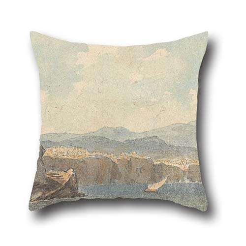 Oil Painting John Warwick Smith - On The Coast Of Sorrentum Throw Pillow Case 18 X 18 Inches / 45 By 45 Cm Gift Or Decor For Wedding,valentine,birthday,teens,husband,shop - 2 Sides (Flower Shop Warwick)