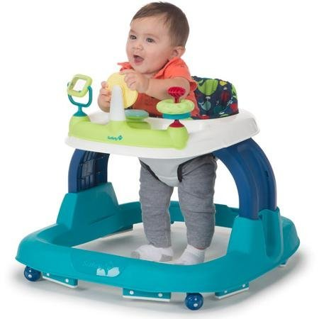 Whale Bay, Set Walker Padded Seat Features 7+ Developmental Activities, 12 Songs and Lights by Safety 1st
